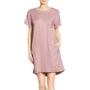 madewell filmscore short-sleeve dress in gingham